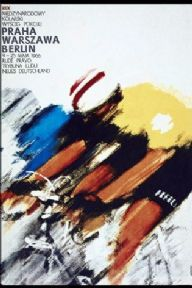 Vintage cycling poster - Tour of New Germany in 1966